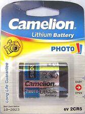1 x 2cr5 Camelion 6v BATTERIA AL LITIO fotocamera digitale Batteria dl245 2cr5r