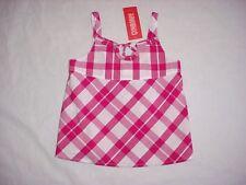 NWT Gymboree Girls CANDY APPLE Pink & White Plaid Swing Tank Top Size 4