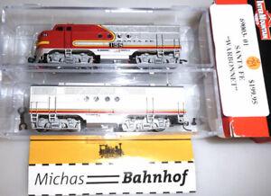 FT A/B Santa Fe Warbonnet InterMountain 69003-01 Diesellok 2-tlg 1:160 N U29 å