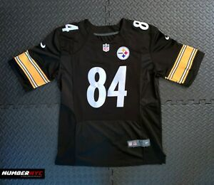 Nike On Field NFL Player Antonio Brown Pittsburgh Steelers 84 Jersey Size 48 BLK
