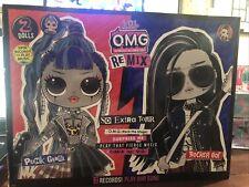 LOL Surprise OMG Remix Rocker Boi and Punk Grrrl 2 Pack Dolls w/ Music