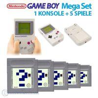 Nintendo GameBoy - MegaSet: Konsole Classic 1989 DMG-01 + 5 GameBoy Spiele #grau