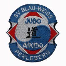 FB041 Judo Aikido Embroidered Applique Martial Arts Patch FD