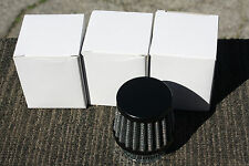 HONDA CB160 35mm POD BLACK  air filters filter pods K&N style SOLD ONE EACH x 1