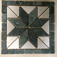 MARBLE FLOOR TILE DECOR 300MM X 300MM green /  grey TUMBLED MARBLE