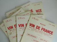 Lote 11x Revistas de La Vino de France Raymond Baudoin 1953-1959