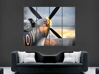 """Spitfire /""""Spitting Flames/"""" Canvas Print Wall Art Picture ~ 5 Sizes ~ BPT05"""