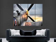 Avión Supermarine Spitfire Póster de pared gigante de guerra Arte Foto Impresión Grande