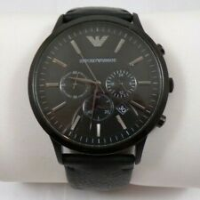 Emporio Armani Sportivo AR2461 Watch Black Stainless and Leather