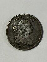 1804   Half Cent  cross 4 stems