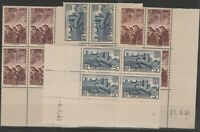 FRANCOBOLLI - 1938 FRANCIA 2 VALORI IN QUARTINA MNH E/2283