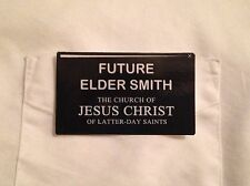 LDS Mormon Missionary costume tags name plate tag badge PERSONALIZED