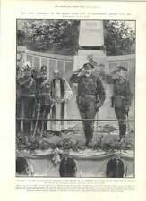 1905 Chief Ceremony Kings Field Day Aldershot Gun Hill South Africa Memorial