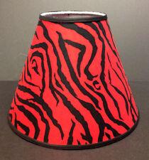 Red Zebra Print Lampshade Handmade Lamp Shade