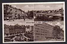 91249 AK Oppeln O.-S. Zimmerstraße Friedrichsplatz Neue Regierung 1936