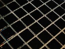 glasmosaik mosaik fliesen bad pool dusche schwarz 2x2 cm dusche sauna TOP