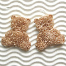 "45 pcs x 1.25"" Padded Terry Cotton Teddy Bears Appliques Valentine's Day ST208AN"