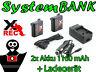 Ladegerät + 2x Akku für AHDBT-401 GoPro HD HERO4 HERO 4 BLACK SILVER Edition