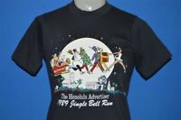 vintage 80s HONOLULU ADVERTISER 1989 JINGLE BELL RUN CHRISTMAS t-shirt YOUTH L