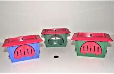 Vintage Beauty Salon Cages Toy or Pet Shop Furniture, Lot of 3