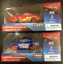 NEW Disney Pixar Lightning McQueen RC Simple Vehicle Car Remote Control Set Of 2