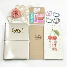 New!!! Hello Beautiful Champaign Travelers Notebook Webster's Pages