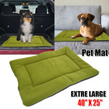 Large Pet Bed for Dog Cat Crate Mat Soft Warm Pad Cushion Home Indoor Outdoor Xl