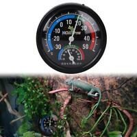 Reptile Vivarium Rearing Box Humidity Meter Thermometer Hygrometer Dial Gauges