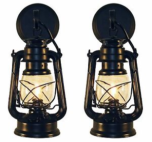 2 Rustic Authentic Lantern Wall Sconce-Small Black-MuskokaLifestyleProducts USA