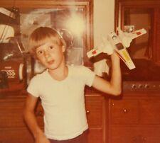 VINTAGE VERNACULAR PHOTOGRAPHY FLYING STAR TREK TOY NO BOX SNAPSHOT FUN PHOTO