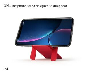 ION RED - Original phone stand fits all Wallets & Phones - Designed to Disappear
