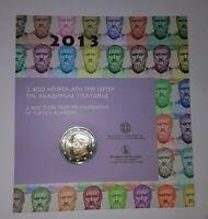 """Coincard Griechenland 2013 mit 2 Euro Gedenkmünze """" PLATON  """"   BU"""