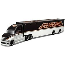 MAISTO 5593 - Harley Davidson Grey with Graphics Custom Hauler  - 1/64 Scale