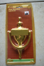 """New Ace Solid Brass Door Knocker 7"""" 7 inch Engravable Free Shiping"""
