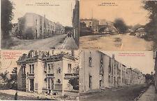 Lot 4 cartes postales anciennes GUERRE 14-18 WW1 LUNEVILLE 5
