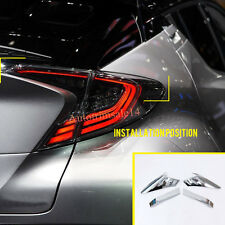 4PCS ABS Exterior Rear Tail Light Lamps Mouldings For Toyota C-HR CHR 2016-2017