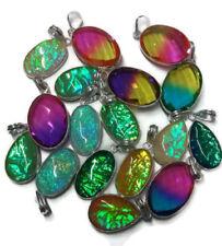 Bulk Lot !! 20 PCs. TOURMALINE & OPAL 925 Sterling Silver Plated Pendant Jewelry