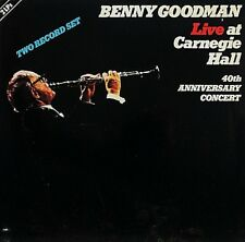 "BENNY GOODMAN ""LIVE AT CARNEGIE HALL"" (2 LPS) PREMIUM QUALITY USED LP (NM/EX)"