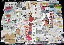 145pc!Collage/Altered Art/Junk Journal Lots~Vtg Image Cuts,Paper Pieces,Ephemera