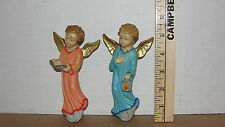 TWO RESIN ANGELS - MADE IN ITALY - WALL HANGERS