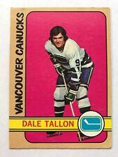 1972/73 Topps Hockey Card #15 Dale Tallon Vancouver Canucks EX