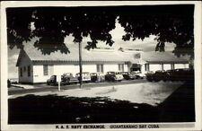 Guantanamo Bay Cuba Nas Navy Exchange & Old Cars Real Photo Postcard