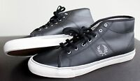 Fred Perry Haydon Mid Leather Black Shoes Men's size 10US B7468 NEW with tag