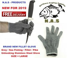 NAS /  Sea Fishing / Fillet / Pike Unhooking Stainless Steel Glove  Large