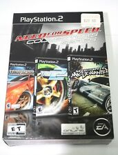 Need for Speed Collector's Series (Sony PlayStation 2, 2006) 2 Games are Sealed