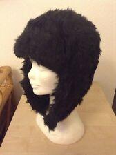 Unisex Faux Fur Trapper Hat. Quilt Lined. Winter Warm.