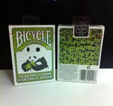 Bicycle Panda Green Playing Cards New Deck