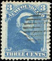 Used Canada Newfoundland 1896 VF 3c Scott #49 Queen Victoria Stamp