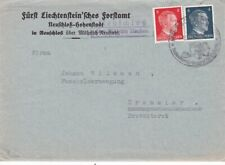 Germany #508,#511 occupation of Czechoslovakia on cover, Neuschloss uber Mahr *d