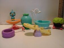 LOT OF LITTLEST PET SHOP LPS ACCESSORIES SQUEAKY CLEAN + DOG TOYS SEESAW ++++